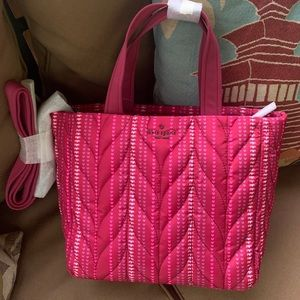 Authentic Kate Spade woven canvas zip tote/Crosby